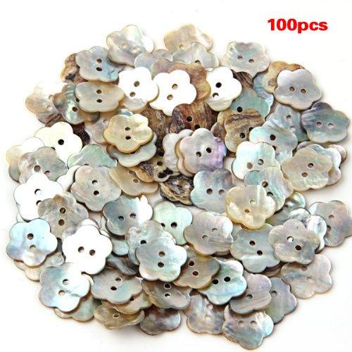 Pack de 100 botones de flores