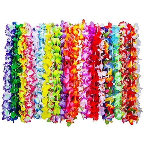 36 piezas de guirnaldas hawaianas
