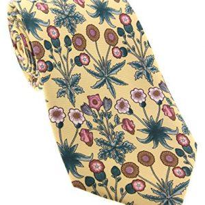 Corbata Soprano amarilla con flores