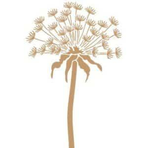 Stencil deco floral diente de león