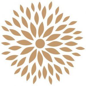 Stencil deco floral dalia