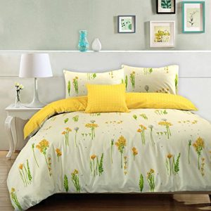 Edredones Summer Breeze 100% algodón crema amarillo