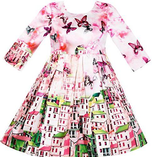 Vestido Sunny Fashion niña en rosa