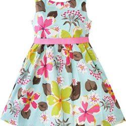 Vestido con estampado floral para niñas