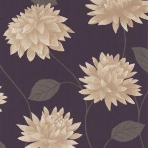 Papel pintado para pared, diseño de flores