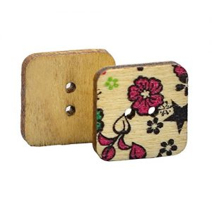 100 botones de madera scrapbooking
