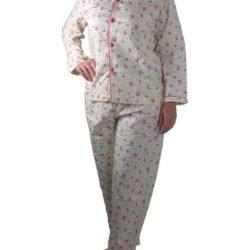 Pijama de franela de flores