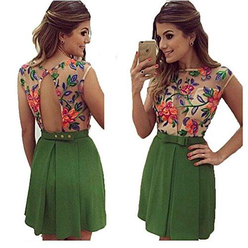 Vestido de flores con espalda descubierta