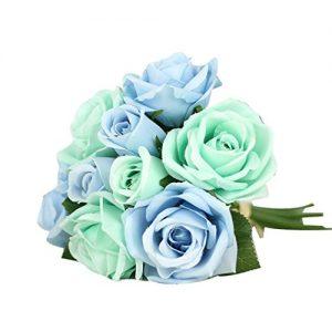 9 flores de seda