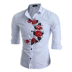 Camisa WanYang de Manga Larga con Rosas en el pecho