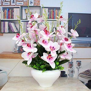 maceta de orquídeas artificiales para el salón