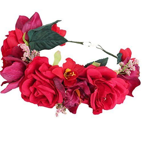 Diadema YAZILIND grandes Rosas Rojas