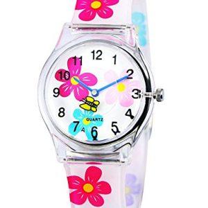 Reloj analógico para niña con flores