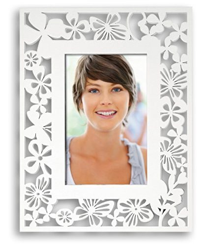 Marco de fotos con diseño de flores troqueladas