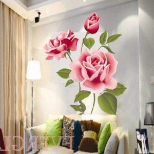 Vinilo adhesivo para el salón de rosas 3D