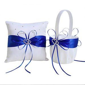Cesta azul + almohada de anillos
