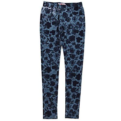 Pantalón de flores azul para niña