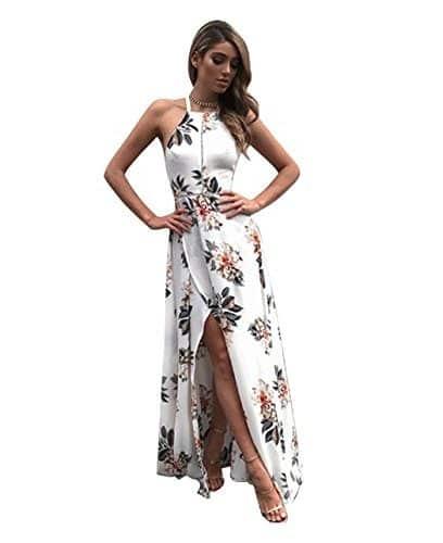 Vestido elegante sin mangas y espalda