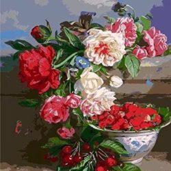 Pintura flor castillo