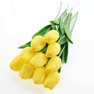 Tulipanes de plástico