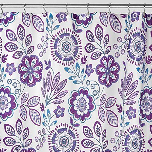 Cortina ducha estampado flores 183x183cm