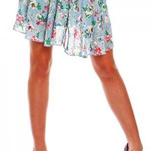 Mini falda midi de flores, Talla Única