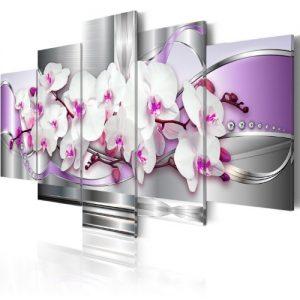 Cuadro abstracto de flores 5 piezas