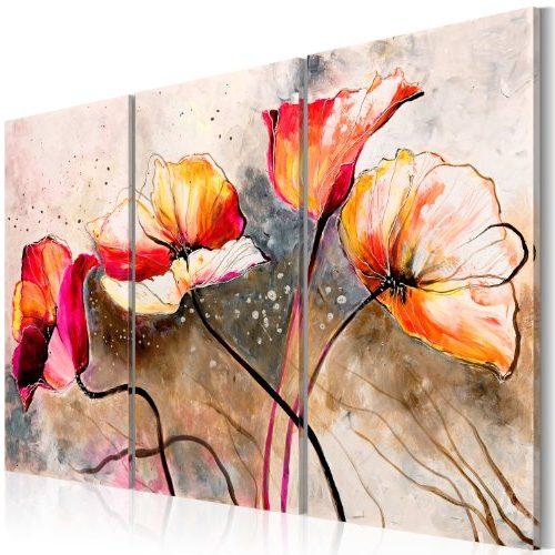 Cuadro flores de amapola
