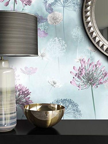 Papel pintado con diseño de flores