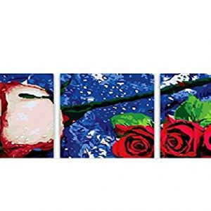 Pack de 3 cuadros al óleo de Rosas