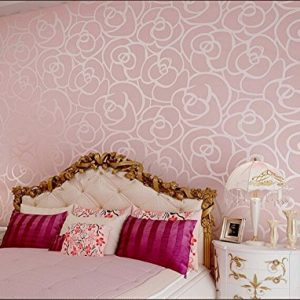 Romántico Rosa Patrón de Flores